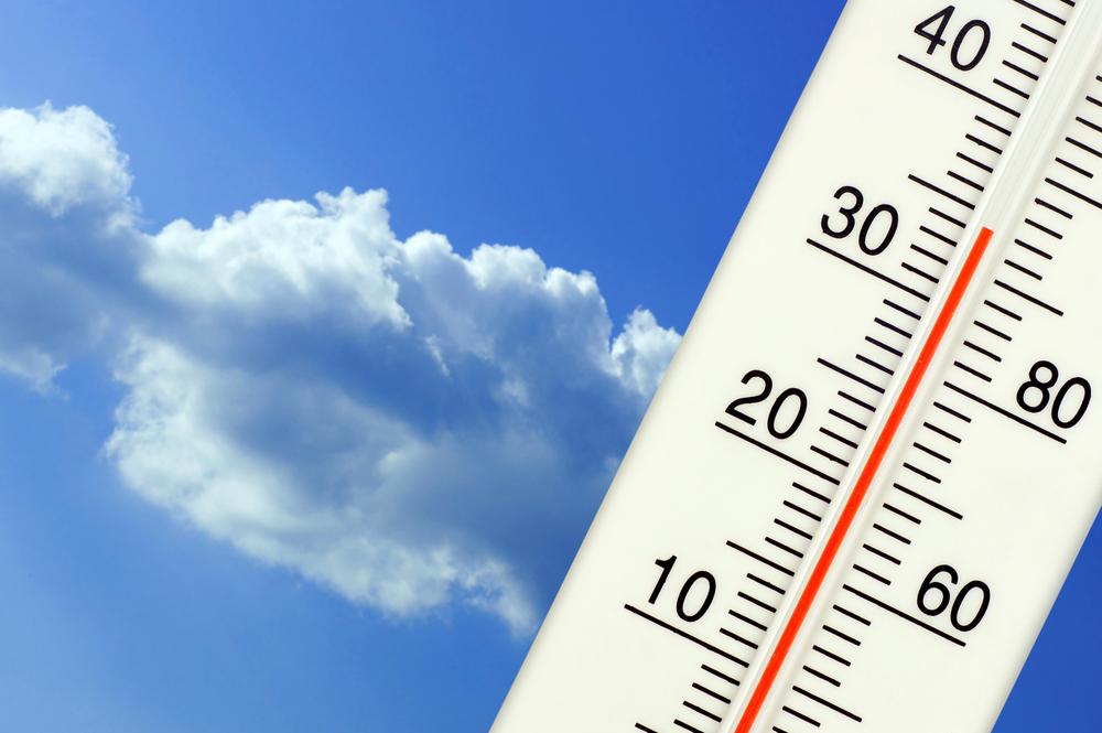 青空と温度計